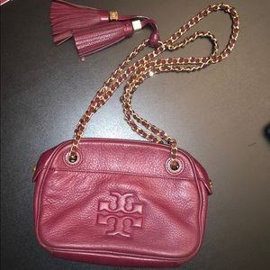 Wine colored Tory Burch bag